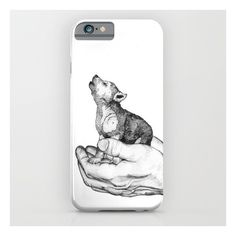 Wolf Cub // Graphite iPhone 6s Case (€31) ❤ liked on Polyvore featuring accessories, tech accessories, phone cases, phone and iphone & ipod cases