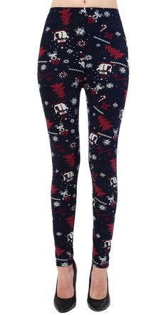 Printed Brushed Leggings - Christmas Playtime  #Leggings #OOTD #Fashion #VIVCollection