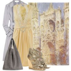 style by art ....Claude Monet - Rouen Cathedral:Portal(Sunlight)