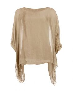Silk & Viscose Blouse Light Brown