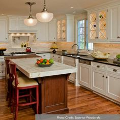 Kitchen cabinets, back splash