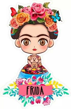 Frida Kahlo Party Decoration, Frida Kahlo Portraits, Handmade Crafts, Diy Crafts, Belly Dancer Costumes, Frida Art, Disney Silhouettes, Mexican Party, Art Party