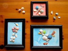 Sea Shell Art. We will do this for sure this summer!