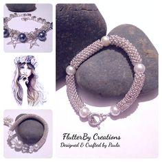 Snowflake Silver Bracelet FlutterBy Creations
