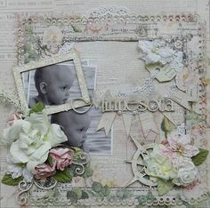 Erin Blegen using Prima's Tea Tyme Paper Collection - August 2012