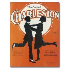 Original Charleston Vintage Song Sheet Art Postcard #Postcards #Song #Gifts