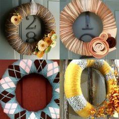 Yarn Wreaths by Jaws1013