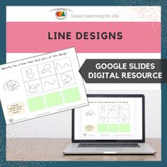 This digitally interactive resource is designed for use with Google Slides. This resource contains 10 slides in total. Answer sheets are included.The student must identify the three lines that form part of the design, and drag the green highlight blocks to mark the correct answers.