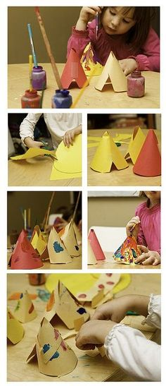 Kinder & 1st: Thanksgiving? teepees by no monsters in my bed, via Flickr