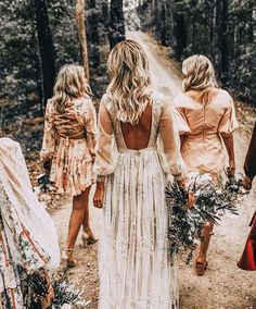 Chic Bohemian Wedding Theme Ideas ★ See more: www. - - Chic Bohemian Wedding Theme Ideas ★ See more: www.weddingforwar… Chic Bohemian Wedding Theme Ideas ★ See more: www. Bohemian Wedding Theme, Bohemian Wedding Dresses, Wedding Gowns, Bobo Wedding Dress, Boho Bridesmaid Dresses, Budget Wedding Dress, Boho Bridesmaids, Unusual Wedding Dresses, Yellow Bridesmaids
