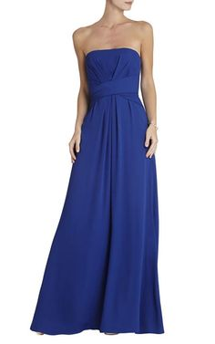 BCBG Whitley Strapless Gown BlueOutlet