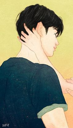 Zipcy- Touch series on Grafolio Cute Couple Art, Anime Love Couple, Cute Anime Couples, Puuung Love Is, Beginner Henna Designs, Cute Couple Wallpaper, Korean Art, Aesthetic Photo, Manga Art