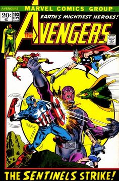 "First-run ""X-Men"" stories will not be seen in 1972! Roy Thomas has moved the mutant menace of the mutant-hunting Sentinels to ""Avengers""!"