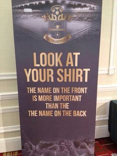 Never a truer word. Southampton Football, Southampton Fc, True Words, Saints, Inspiration, Biblical Inspiration, Shut Up Quotes, Quote, Inspirational
