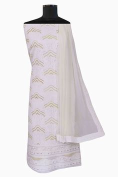 Ada #handembroidered  Cream #cotton  #lucknowi  #chikankari  Unstitched Suit Piece – A278280