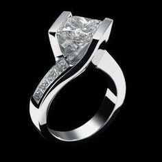 beautiful+engagement+rings+for+women | Diamond engagement rings for women Harry Winston Design #DiamondWeddingRingsforWomen