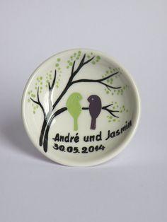 Ringschale für die Hochzeit von Traumhochzeit auf DaWanda.com