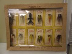 A 1960s Phillips Fly & Tackle dealer display.