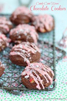 The star of this year's cookie exchange - rich, fudgy chocolate cookies packed with chopped candy cane kisses