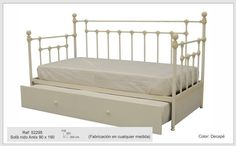 Sofá cama Antix con arrastre - forjanatura