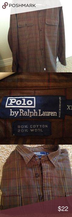 Polo button down Quality brand, long sleeve shirt Polo by Ralph Lauren Shirts Casual Button Down Shirts