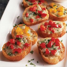 Blue Cheese Bruschetta is a fun new twist on a party classic.