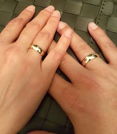 Solid Gold Wedding Set, Set of 2 engagement ring, Gold His and Hers Matching Wedding Bands, Classic wedding ring Thick Wedding Bands, Wedding Band Styles, Matching Wedding Bands, Wedding Matches, Wedding Sets, Gold Wedding, Engagement Rings Couple, Wedding Engagement, Wedding Ring For Him