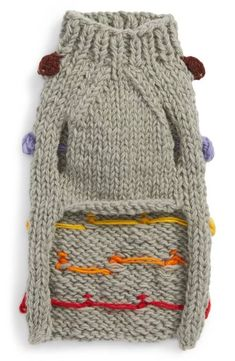 Pom Pom Knit Sweater - Rainbow Grey – LoveThyBeast France is an independent nation in Western Europe and the biggest market of a large overseas administrat Crochet Dog Sweater Free Pattern, Knitting Patterns Free Dog, Knit Dog Sweater, Hand Knitting, Grey Sweater, Pom Pom Sweater, Knitting Sweaters, Crochet Dog Clothes, Pet Clothes