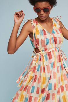 Love the pattern on this dress. Not a fan of the cutout under the arms.