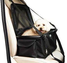 Lightweight Collapsible Dog Carrier & Car Seat Pet Car Seat, Travel Car Seat, Pet Travel, Pet Dogs, Dog Cat, Pets, Puppy List, Dog Carrier, Pet Life