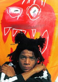 Jean-Michel Basquiat in his studio in Soho, 1985 Photography by Gianfranco Jean Basquiat, Jean Michel Basquiat Art, Basquiat Paintings, Basquiat Artist, Oil Paintings, Tachisme, Art Brut, Afro Punk, Oeuvre D'art