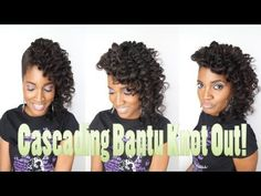 384-whoissugar Entwine Couture Cascading Bantu Knot Out for Natural-Transitioning-Relaxed Hair!