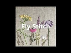 Embroidery Tutorial - Fly Stitch | Chrissie Crafts - YouTube