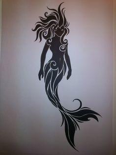 dark mermaid tattoo - Google Search