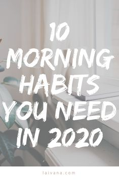 10 daily morning habits to boost your productivity and well-being // In this post, I'm sharing tips on how to be productive to achieve your goals, how to use the rule, the importance of… Healthy Morning Routine, Morning Habits, Morning Routines, Miracle Morning, Morning Morning, Morning Post, Motivation, Yoga Bewegungen, Mental Health