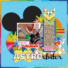 Astro Orbitor - MouseScrappers - Disney Scrapbooking Gallery