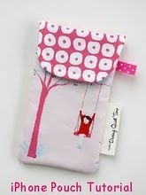 i love this fabric and what she did with it:  ipod case