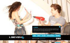 Desenvolvimento do site da Coleção Verão 2012 da L.Seven Jeans, marca do Grupo Latreille.