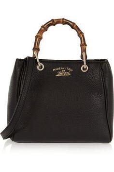 Bamboo Shopper mini textured-leather shoulder bag #handbag #women #covetme #gucci