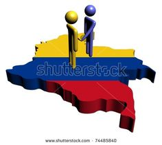 people shaking hands with Colombia map flag illustration Colombia Map, Colombian Art, Primary Colors, Flag, Illustration, Green, People, Shirts, Beautiful Places