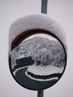 snow in the mirror
