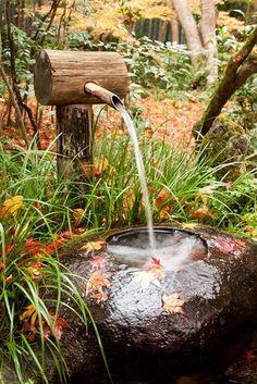 Small Garden Fountains Water Features - Outdoor Fountain Ideas - How To Make a Garden Fountain Large Outdoor Fountains, Garden Water Fountains, Water Garden, Fountain Garden, Simple Garden Designs, Garden Design Plans, Small Garden Design, Garden Types, Magic Garden