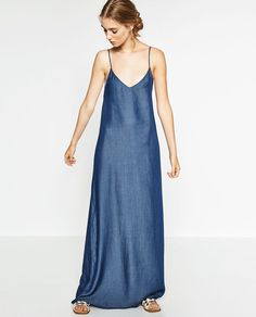 LONG DENIM DRESS-View All-DRESSES-WOMAN | ZARA United States