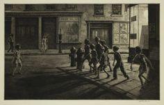 Night prints of Martin Lewis, the forgotten teacher of Edward Hopper - Cultura Inquieta Source by santiagogironfe. Edward Hopper, Bedford Street, Ashcan School, Bio Data, Best Teacher, Gravure, Art History, Printmaking, New York City
