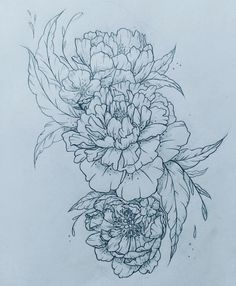 Peony tattoo!! Please contact me if you're interested in custom designs at clairestokes93@yahoo.com or check out my work on Instagram clairestewart25! Find my listing on my etsy: https://www.etsy.com/listing/269477486/custom-drawingtattoo-design