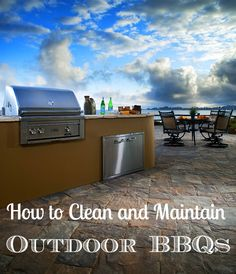 How to Clean an Outdoor Gas or Charcoal Barbecue Grill<---get ready for spring/summer outdoor entertaining!