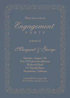 Engagement Invitation Template  Editable Text  Instant Download