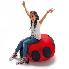 Animals Ladybird Expand Pouf for kids. Fun, comfortable design. Materials are all very durable and reliable.