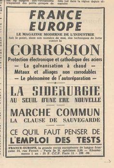 Publicité pour FRANCE-EUROPE Le Combat, 7 mai 1968