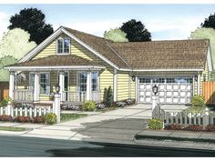 Cottage House Plan with 1277 Square Feet and 3 Bedrooms from Dream Home Source | House Plan Code DHSW075885